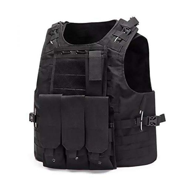 WEQ Airsoft Tactical Vest 1 WEQ Tactical Vest Outdoor Amphibious Vest Ultra-Light Breathable Combat Training Vest Adjustable for Adults(Standard Size) (Color : #B)