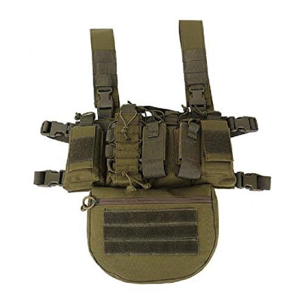 BGJ Airsoft Tactical Vest 1 Outdoor Tactical Vest Military Airsoft Shooting Combat Chest Rig Army Battle Nylon Molle Vest Bag Hunting CS Match Waist Pack