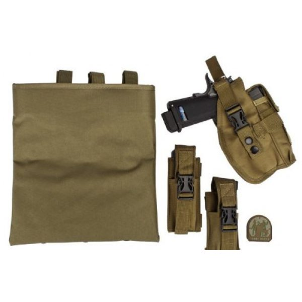 enmu pancho Airsoft Tactical Vest 2 Airsoft Zombie Hunter Starter's Protective Vest Package for airsoft - Tan