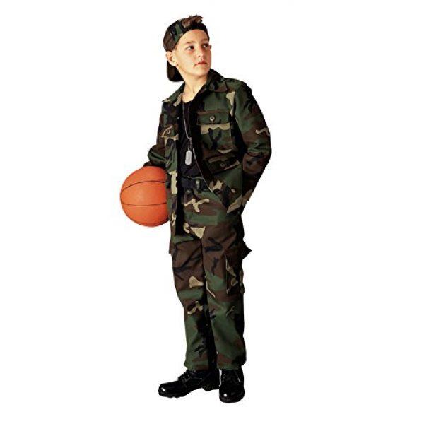 Rothco Tactical Shirt 1 Kids Woodland Camo BDU Shirt