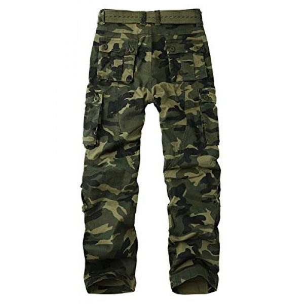 Alfiudad Tactical Pant 2 Men's Military Tactical Pants Casual Cotton Army Camo Combat Cargo Work Pants BDU Trousers with 8 Pockets