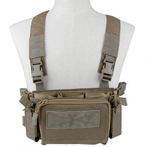 Tactical Area  1 Tactical Area Military Multi-Functional Vest Breathable Lightweight Vest with Detachable Pouches and Straps
