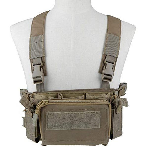 Tactical Area Airsoft Tactical Vest 1 Tactical Area Military Multi-Functional Vest Breathable Lightweight Vest with Detachable Pouches and Straps