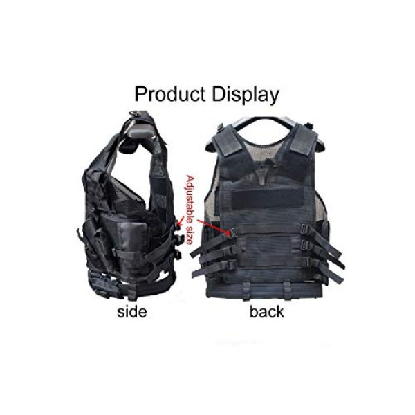 KIDYBELL Airsoft Tactical Vest 6 KIDYBELL Tactical Airsoft Vest for Outdoor Hunting Army Fan Combat Training CS Game 600D encrypted Nylon Fabric