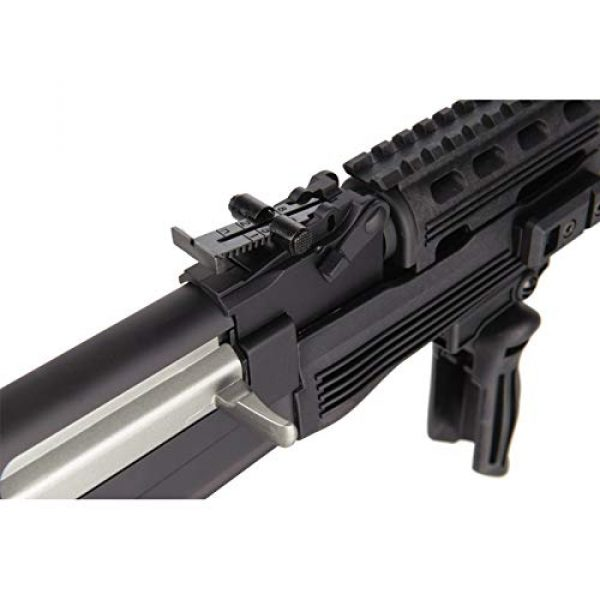 Lancer Tactical Airsoft Rifle 6 Lancer Tactical Airsoft Full Metal AK-47 AEG Rifle LE Stock with Battery & Charger Black