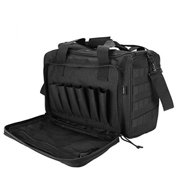ProCase Pistol Case 1 ProCase Tactical Gun Range Bag for Handguns, Pistols and Ammo, Large Shooting Range Duffle Bags for Magazine Shooting Gear Accessories for Hunting Shooting Range Sport Competetion -Black