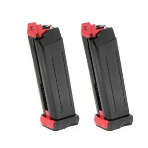 Generica Air Gun Magazine 1 Generica Airsoft Spare Parts APS 2pcs 18rd CO2 Magazine for APS Steel Shark .177 Cal 4.5mm BB Black