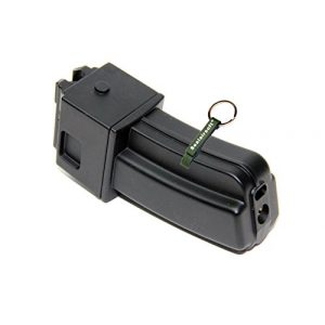 KJW Air Gun Magazine 1 KJ Works 22rds Airsoft Metal 6mm GAS Magazine For KC-02 .22 GBB Black -Mobile Ring Included