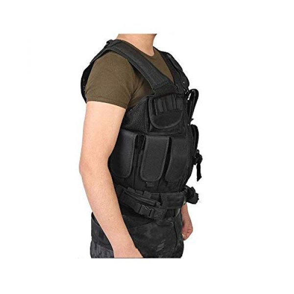 NEW VIEW Airsoft Tactical Vest 2 New View Tactical Vest Multi-Function Combat Training Suit with Multiple Pockets for 600D Encryption Nylon