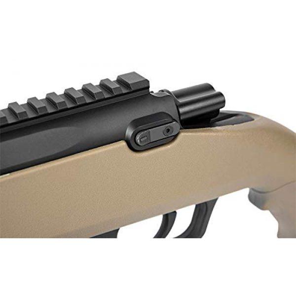 Elite Force Airsoft Rifle 5 Elite Force Amoeba AS-02 Striker Rifle 6mm BB Sniper Rifle Airsoft Gun, Dark Earth Brown