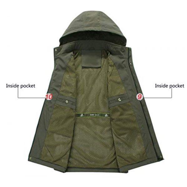 DAFREW Airsoft Tactical Vest 5 DAFREW Youth Vest Men's Casual Vest Quick-Drying mesh Vest Male Outdoor Hooded Vest (Color : Royal Blue, Size : XL)