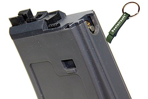 WE  2 WE 30rds Open Bolt Airsoft Gas Magazine For PDW Series GBB Gary -Mobile Ring Included