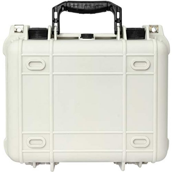 Eylar Pistol Case 4 Eylar Tactical Hard Gun Case Water & Shock Proof with Foam TSA Approved 13.37 Inch 11.62 Inch 6 Inch Storm White