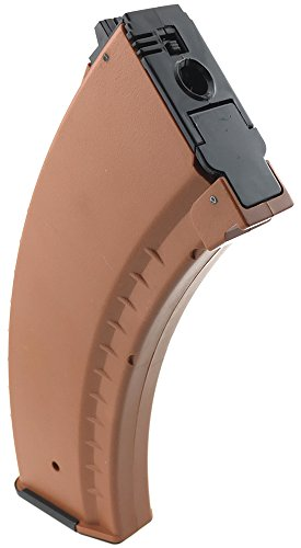 SportPro  2 SportPro 550 Round Polymer AKM Style High Capacity Magazine for AEG AK47 AK74 Airsoft - Brown