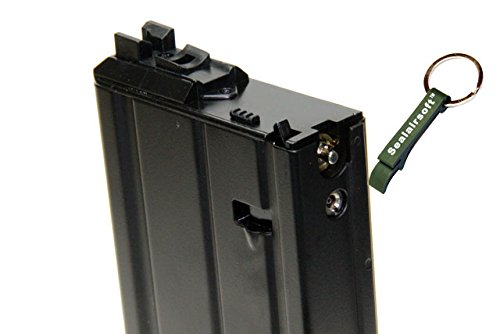 WE  2 WE 31rds Airsoft Gas Magazine Scar-H Series GBB Black -Mobile Ring Included