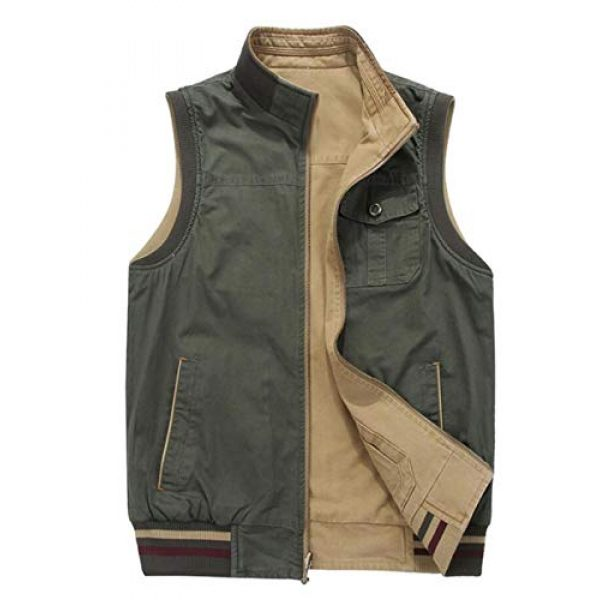 DAFREW Airsoft Tactical Vest 6 DAFREW Vest,Double-Sided wear Sleeveless Jacket Multi-Pocket Fishing Vest Jacket Wearing Vest Casual Jacket (Color : Army Green, Size : XXXL)