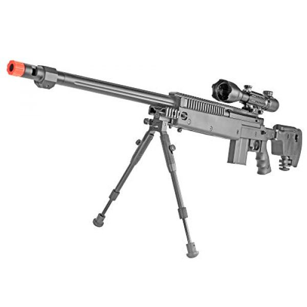 BBTac Airsoft Rifle 1 BBTac Well MB04 G-22 AWM Airsoft Sniper Rifle with 3-9 x 40 Scope and Bi-Pod