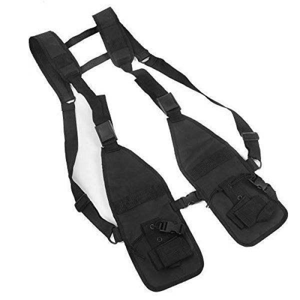 Alomejor Airsoft Tactical Vest 1 Alomejor Tactical Training Vest Simple Adjustable Vest Chest Backpack Army Fans Tactical Vest Outdoor Fitness Sports Training Suit for Airsoft Paintball Training