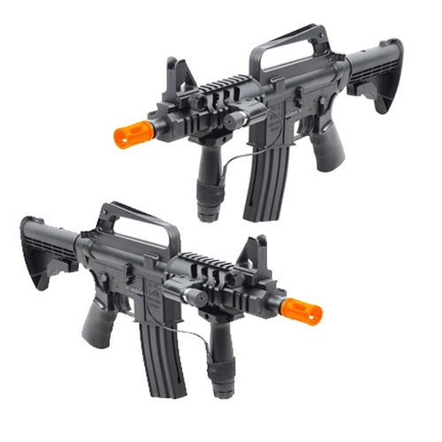 Well  1 Spring M16A5 Assault Rifle Grip & Collapsible Stock Airsoft Gun