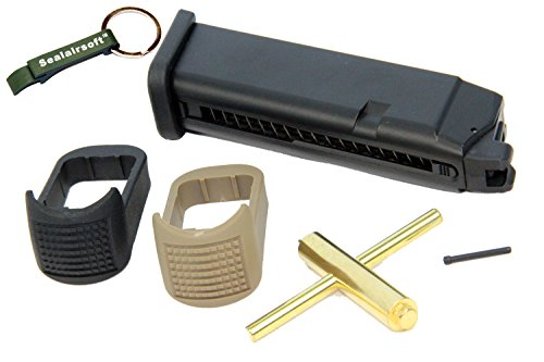 WE  1 WE 24rd CO2 Airsoft Magazine for Marui G17 G18C G17 G18C G19 G23 G34 G35 GBB -Mobile Ring Included
