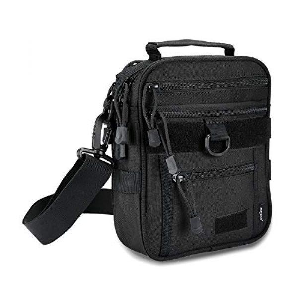 ProCase Pistol Case 1 ProCase Pistol Bag, Military Gear Tactical Handgun Shoulder Strap Bag Gun Ammo Accessories Pouch Shooting Range Duffle Bag for Shooting Range Sport - Black