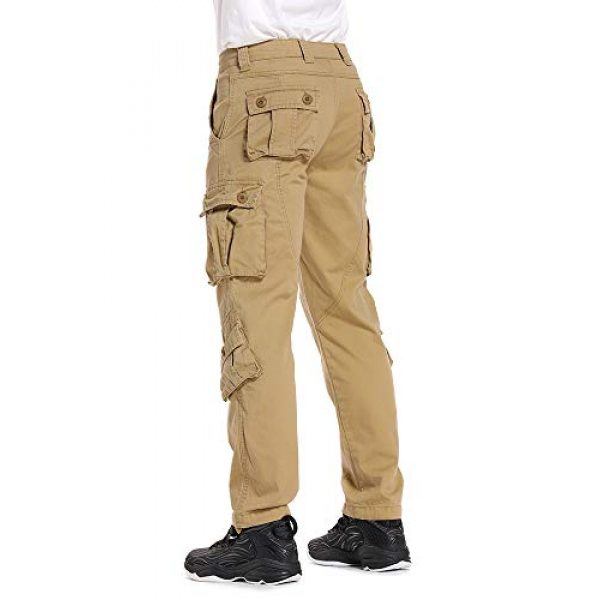 linlon Tactical Pant 5 Mens Cargo Pants, Camo Tactical Pants BDU Combat Work Pants with 8 Pockets