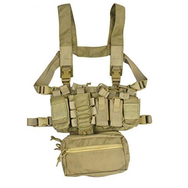 Jadedragon Airsoft Tactical Vest 2 Jadedragon Tactical CS Field Vest Adjustable Ultra-Light Breathable Chest Rig Outdoor Training Vest