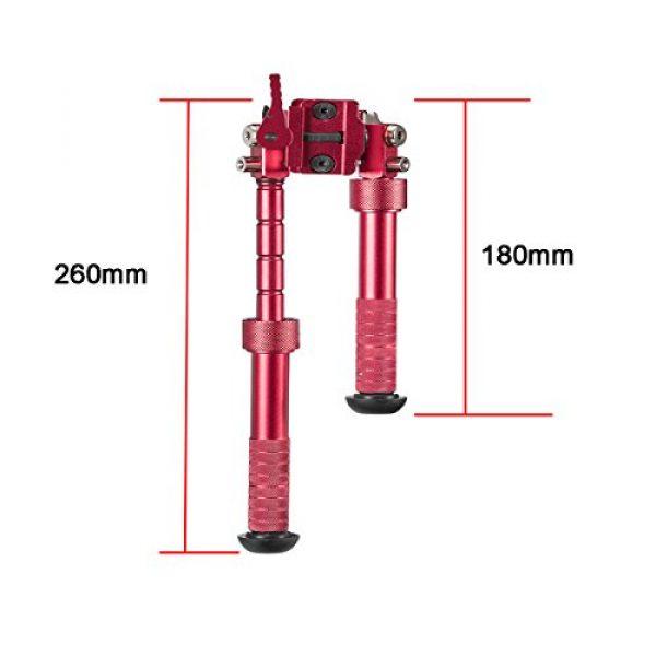 "Gazelle Trading Airsoft Gun Barrel Bipod 2 Gazelle Trading 7""-10"" Tactical Bipod QD Picatinny RIS Rail Mount Foldable Adjustable Rifle Monopods"