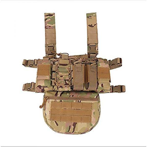 WEQ Airsoft Tactical Vest 1 WEQ Outdoor Tactical Vest Ultra-Light Breathable Modular Combat Training Vest Outdoor Combat Chest Vest Hanging Adjustable (Color : #B)