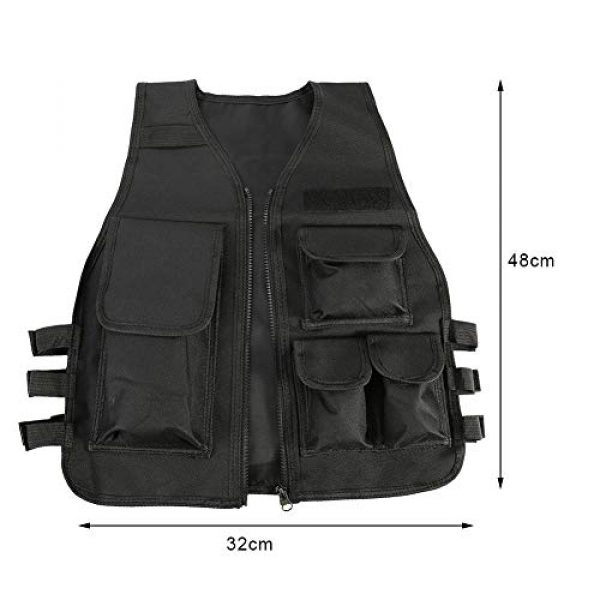 Aufee Airsoft Tactical Vest 5 Child Vest, 4 Colors Nylon CS Game Armor Vest Solid and Wear Resistant,with Side Hook and Loop Straps,Suitable for Children at Age of 8-14
