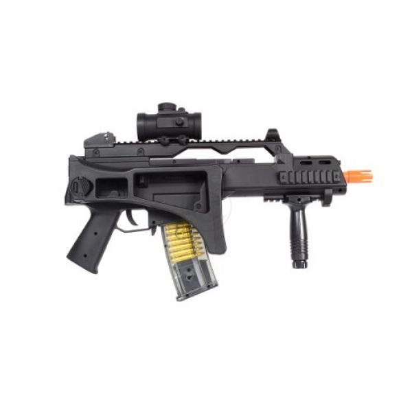 TAC Airsoft Rifle 4 DE R36C TacSpec Electric AEG Rifle w/Flashlight and Red Dot Scope