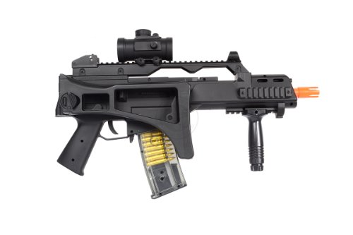 TAC  4 DE R36C TacSpec Electric AEG Rifle w/Flashlight and Red Dot Scope
