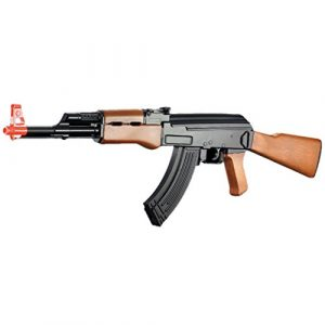 BBTac Airsoft Rifle 1 BBTac ak airsoft gun powerful spring full size assault rifle machine gun, large magzine, with BBTac warranty(Airsoft Gun)