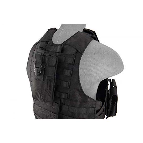 Lancer Tactical Airsoft Tactical Vest 6 Lancer Tactical 1000D Nylon Airsoft Combat Training Tactical Strike Assault Vest Black Adjustable