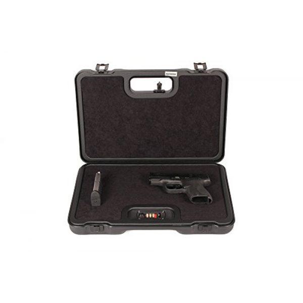 Negrini Cases Pistol Case 6 Negrini Cases 2023UTS/4839 Handgun Case (1 Gun), Black/Black