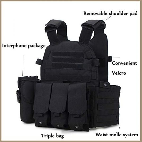 BGJ Airsoft Tactical Vest 7 Outdoor Airsoft Gear 6094 Tactical Molle Vest Paintball CS Games Protection Body Armor Military Shooting Combat Training Vest