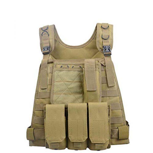 HHFC Airsoft Tactical Vest 1 HHFC Outdoor Nylon Tactical Vest Security Guard Waistcoat Field Combat Training Protective Vest Tactical Molle Airsoft Vest Paintball Combat Soft Vest