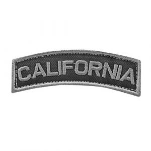 LEGEEON  1 LEGEEON California Shoulder Tab Blackout CA State Army Morale Tactical Fastener Patch