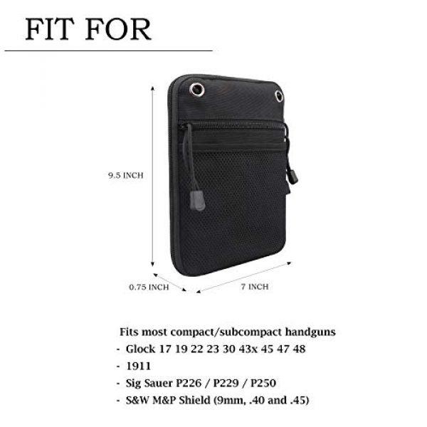 Kosibate Pistol Case 4 Kosibate Concealed Gun Pouch, Multipurpose Carry Pistol Holster Pack Waist Bag for Handgun with Belt Loops -Black