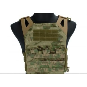 enmu pancho Airsoft Tactical Vest 1 Professional Airsoft Vest made with Durable nylon fabric - Woodland Arid