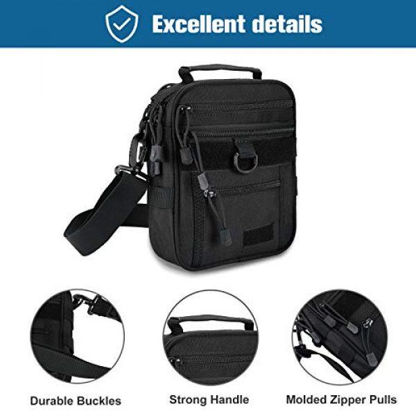 Kosse Pistol Case 4 Kosse Pistol Bag, Military Gear Tactical Handgun Shoulder Strap Bag Gun Ammo Accessories Pouch Shooting Range Duffle Bag for Shooting Range Sport