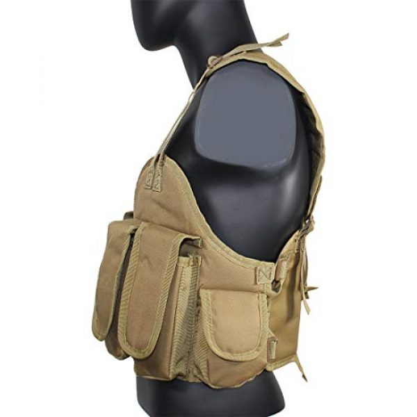Yoghourds Airsoft Tactical Vest 3 Yoghourds Tactical Vest for Men Airsoft Guns Vest Adjustable Outdoor Combat Training Vest Ultra-Light Breathable for Adults in Hunting Fishing CS Field