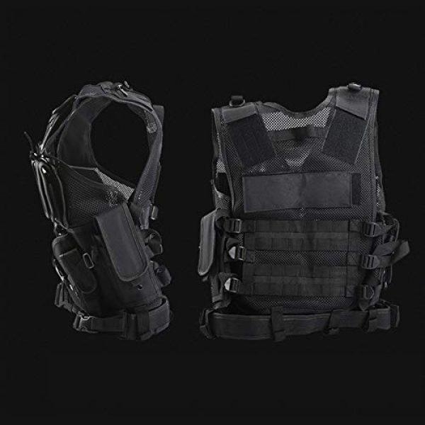 FUZHEN Airsoft Tactical Vest 4 FUZHEN Tactical Vest Outdoor,Breathable Combat Training Vest Adjustable,with 4 Deluxe Adjustable Rifle Mag Pouches Tactical Vest