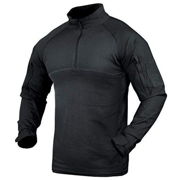 Condor Tactical Shirt 1 Combat Shirt (Black, 2X-Large)