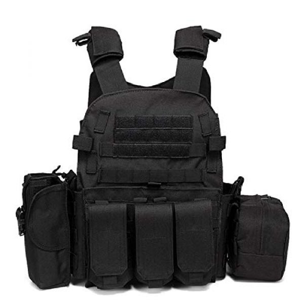 BGJ Airsoft Tactical Vest 1 Paintball 6094 Tactical Molle Vest Special Forces Military Army Vest Training CS Combination Vest Hunting Airsoft Body Armor