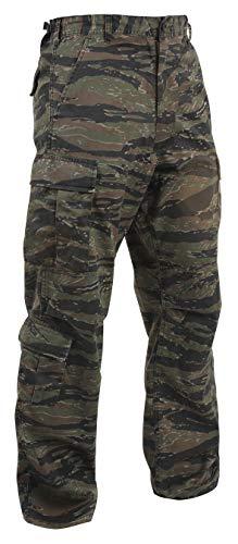 Rothco Tactical Pant 1 Vintage Camo Paratrooper Fatigue Pants, Tiger Stripe Camo, L