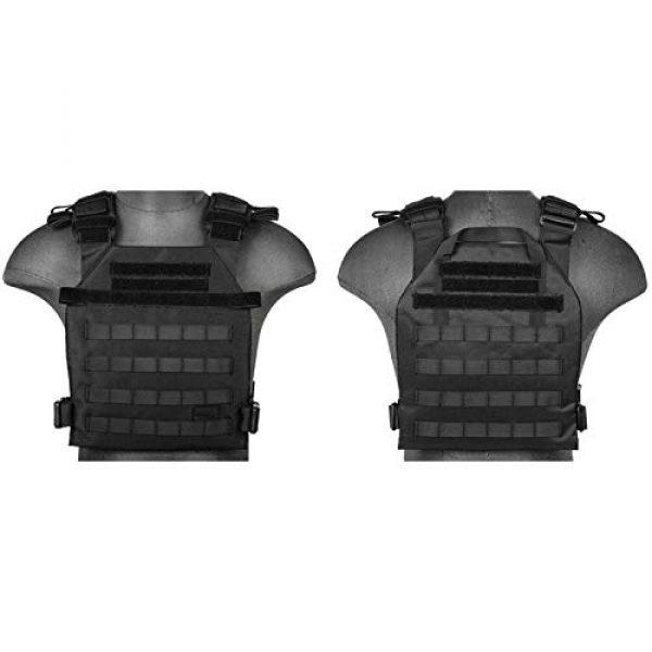 Lancer Tactical Airsoft Tactical Vest 2 Lancer Tactical Polyester Airsoft QR Lightweight Tactical Vest Nylon Black Adjustable Combat Training