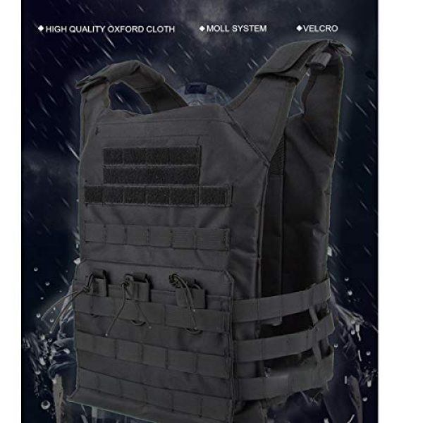 KIDYBELL Airsoft Tactical Vest 7 KIDYBELL Tactical Molle Vest Breathable Combat Training Vest 1000D Oxford Cloth Outdoor Activity Air Soft Vest Sports Equipment Modular Vest