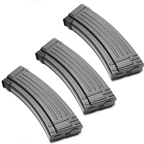 Generica  1 Airsoft Spare Parts 3pcs Pack CYMA 140rd Mid-Cap Metal Magazine for AK-Series AEG Black