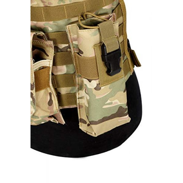 BGJ Airsoft Tactical Vest 5 CP Camo Vest RRV Molle Airsoft Tactical Vest Military Combat Assault Chest Rig Paintball Police Body Armor Hunting Vest